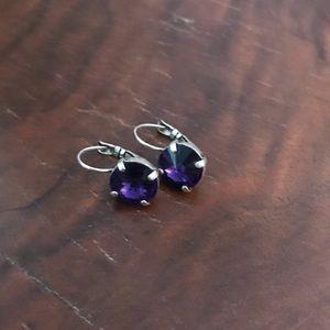 Jewelry - Crystal purple drop earrings